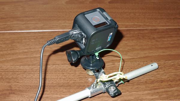 gopro hero5 sessionに外部バッテリーを接続する